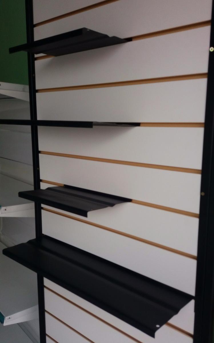 Estantes porta calzados ganchos exhibidor panel ranurado 59 00 en mercado libre - Ganchos para estanterias ...