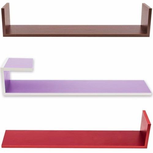 estantes repisas flotantes formas colores u,l,z,j largos