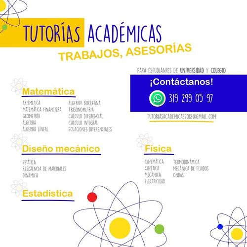 estática, estadística, talleres y asesorías