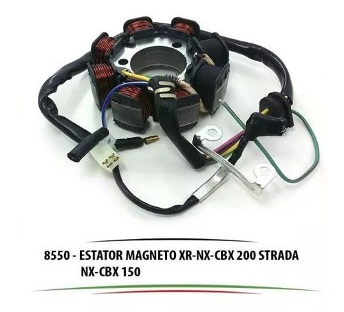 estator bobina motor cbx 200 strada 150 aero nx xr baratão
