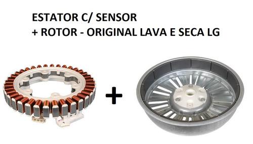 estator c/ sensor + rotor lava e seca lg original