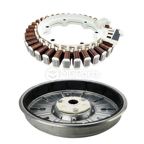 estator e rotor do motor p/ lavadoras e lava e seca lg (kit)
