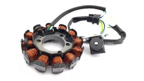 estator magneto pop 110i biz 110i com bobina de pulso sct