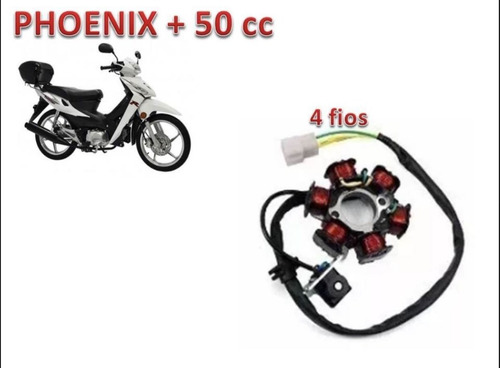 estator moto 50cc shineray wuyang jet+ e phoenix+ original