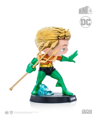 estátua aquaman - dc comics - mini co - iron studios