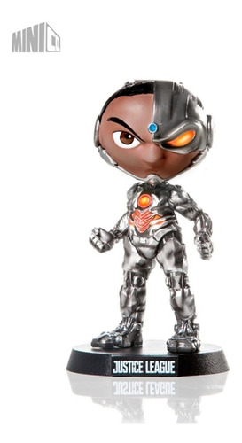estátua cyborg - dc comics - mini co - iron studios