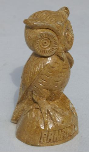 estatua de buho con la base, arte de panama 12cm