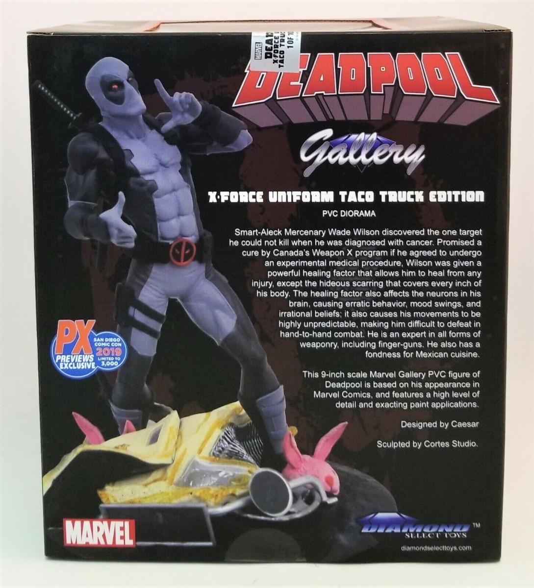 San Diego comic-con 2019 Galería De Marvel X-Force Taco Truck Deadpool Estatua