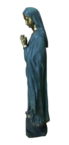estatua de la santísima virgen maría de bronce 1.10 m altura