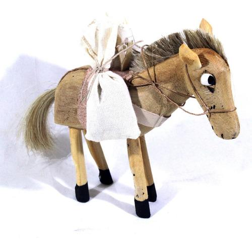 estatua de mula artesanal tamanho pequeno