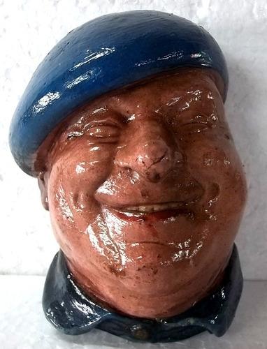 estatua de parede cabeça de cafageste  antigo gesso resinado