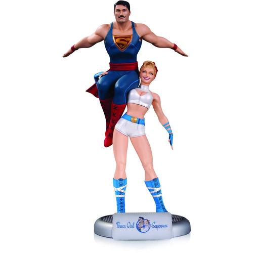 estatua de superman y dc comics bombshells power girl