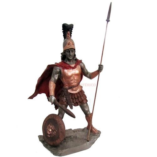 estátua deus da guerra ares 27cm resina