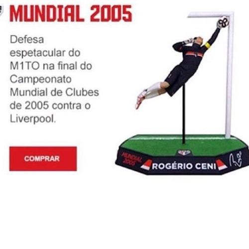 estátua rogério ceni são paulo mundial 2005 17cm i9-930299