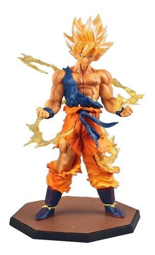 estátua son goku super saiyan dragon ball z saiyajin ssj