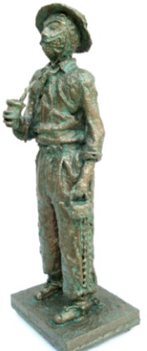 estatueta-gaucho honorio-arte-escultura de alcir scortegagna