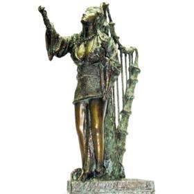 Estatueta Lira Magica Arte Em Escultura De Alcir Scortegagna
