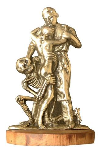 estatueta o ceifador bronze escultura médico paciente obra