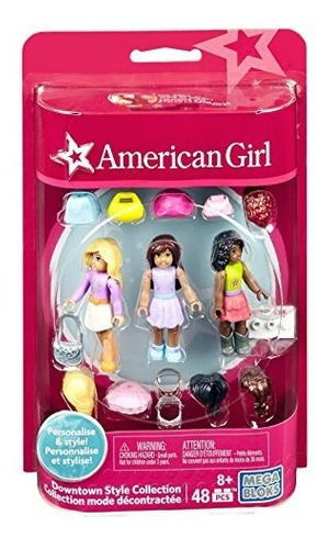 estatuilla american girl de mega construx coleccion downtown