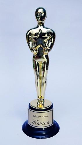 estatuilla premio oscar graduacion trofeo hollywood temática