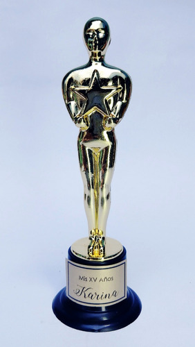 estatuilla premio oscars 15cm hollywood trofeo