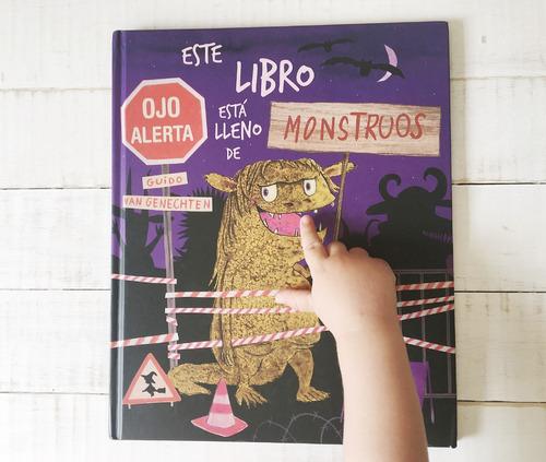 este libro está lleno de monstruos - tapa dura y pop up