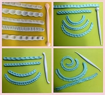 estecas x 14 cooper tortas reposteria fondant porcelana fria