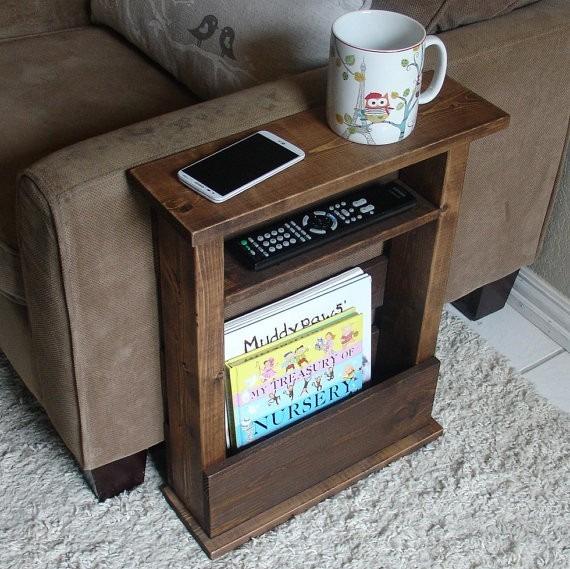 Esteira bandeja lateral madeira p sofa mesa personalizada - Mesas para el sofa ...