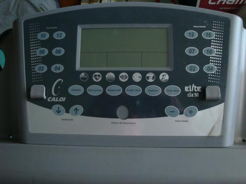 esteira eletrônica caloi elite cle 50 com painel 6 velocidad