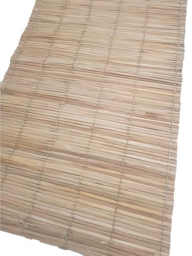 esteira palha 4,5x1,0m 4und pergolado tapete passadeira