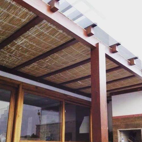 esteira palha 6,00x 1,00m decoração pergolado tapete