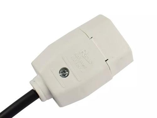 estençao eletrica cabo 2x1.0mm 20 metros cabo pp