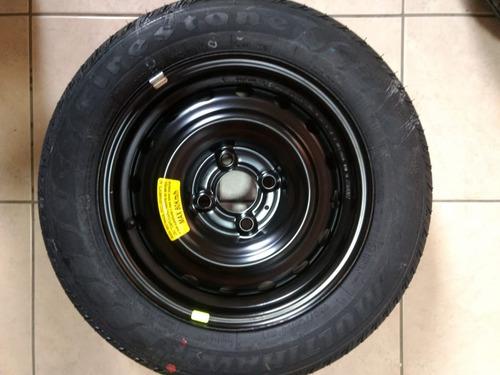 estepe sem uso roda e pneu aro 14 165 / 70 / 14 versa 2017