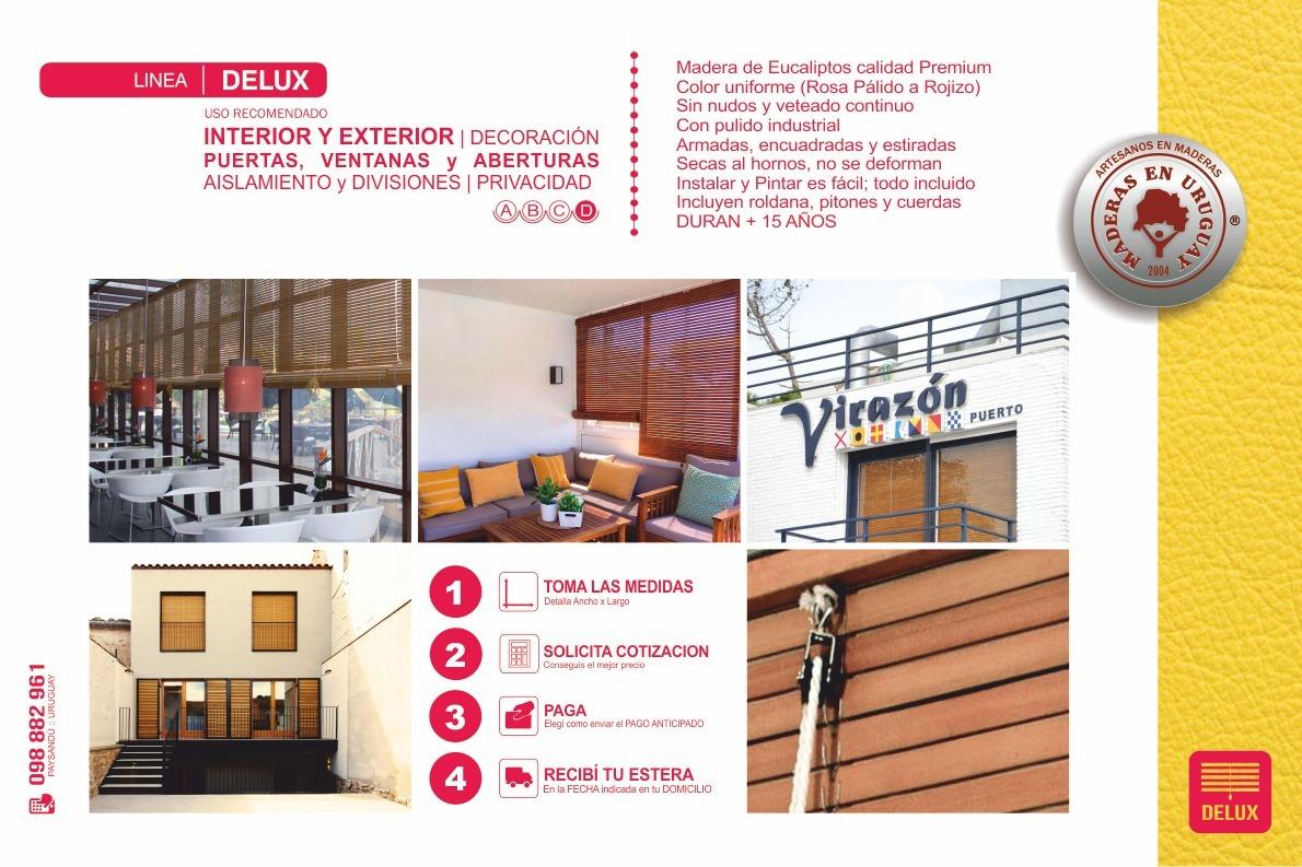 Esteras De Maderas   Verano   Protegen Del Sol Y El Calor - $ 870,00 ...