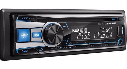 estereo alpine cde 152 usb aux con instalación audio secrets