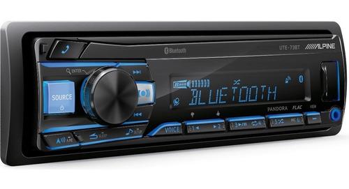 estereo alpine ute-73bt radio usb, aux, bt, com.sat., ipod