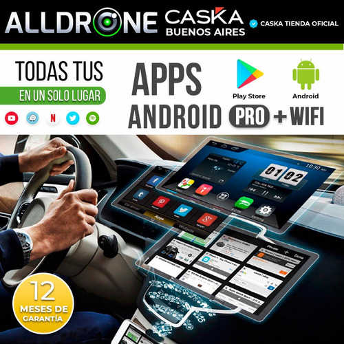 estereo android caska pantalla doble din universal gps tv