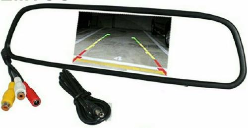 estereo auto pantalla retrovisor sd usb video entrada camara