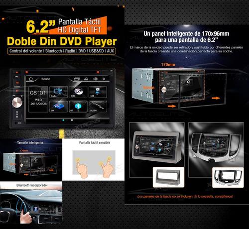 estereo doble din pantalla 6.2 pulgad touch dvd bluetooth sd