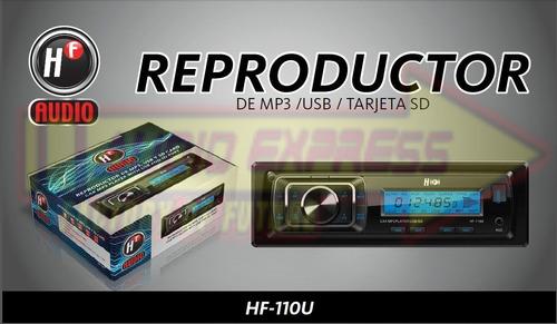 estereo hf-110u control remoto usb, mp3, sdcard, auxiliar