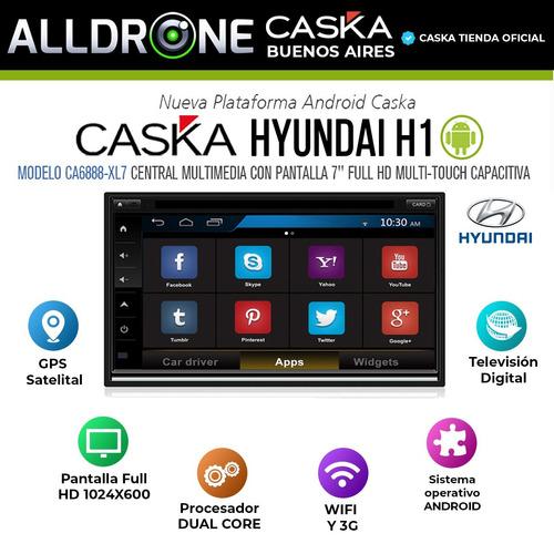 estereo hyundai h1 caska android gps bluetooth tv hd tpms