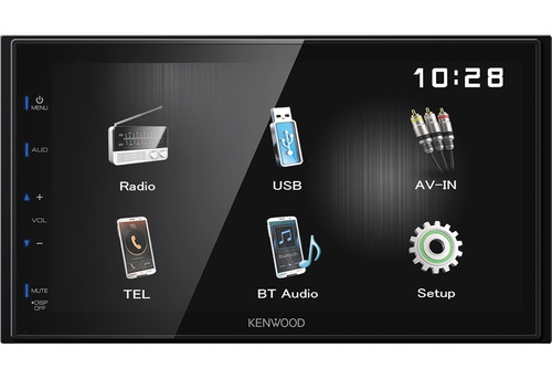estéreo pantalla doble 2 din kenwood dmx110bt bluetooth usb
