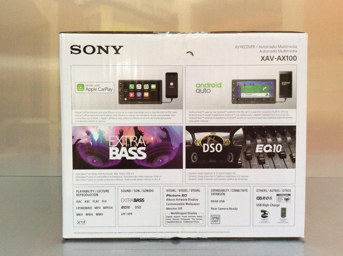 Estéreo Pantalla Sony Xav-ax100 Carplay Android Auto Waze