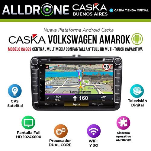 estereo pantalla volkswagen amarok caska dvd + camara regalo