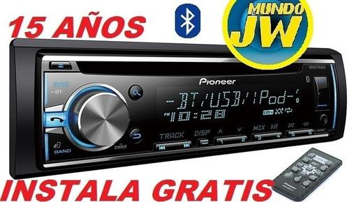 estereo pioneer deh x 3950 usb cd bluetooth instala gratis