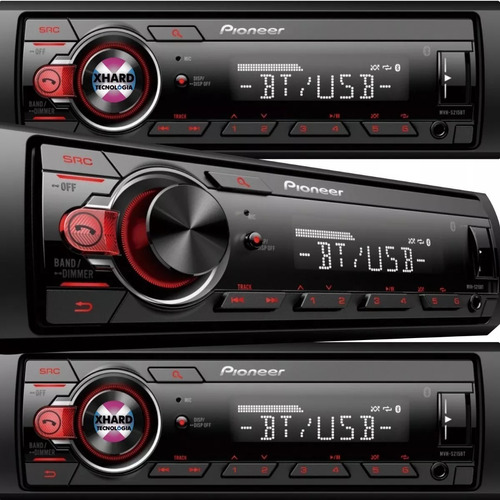 estereo pioneer mvh-295 215 bluetooth usb aux radio am/fm android nuevo modelo 2019