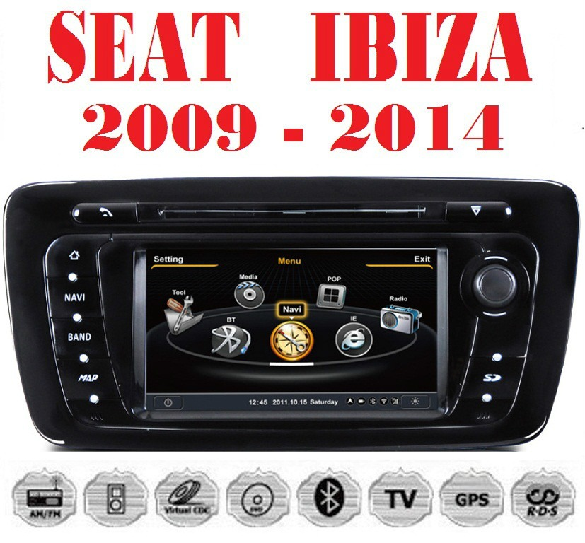 estereo seat ibiza gps dvd mp3 bluetooth ipod internet 3g 9 en mercado libre. Black Bedroom Furniture Sets. Home Design Ideas