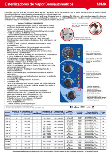 esterilizador autoclave tuttnauer nuevo