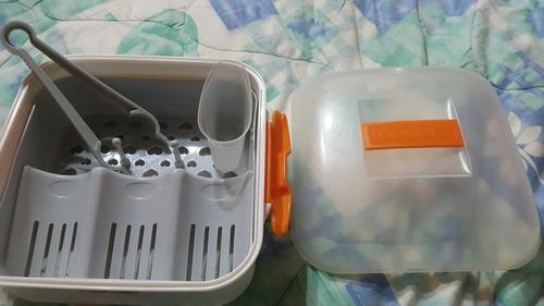esterilizador de tetero bebek para microondas