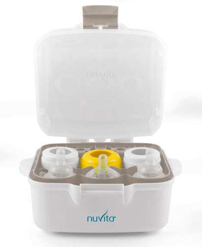 esterilizador para microondas - mamaderas bebes nuvita